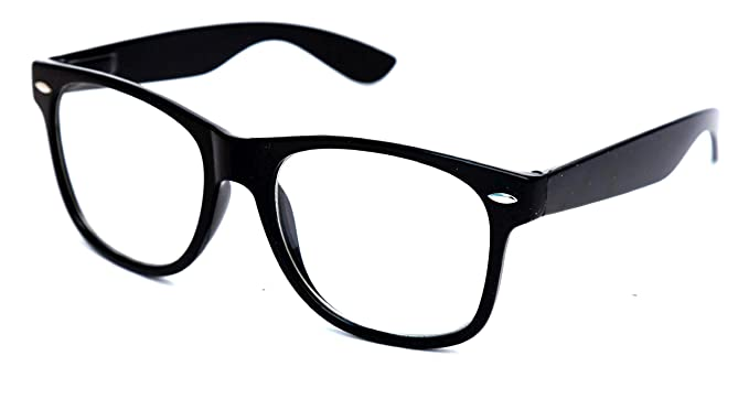 432b6c5c059 Image Unavailable. Image not available for. Colour  THEWHOOP Full Rim Anti  Reflective Wayfarer Unisex Spectacle ...