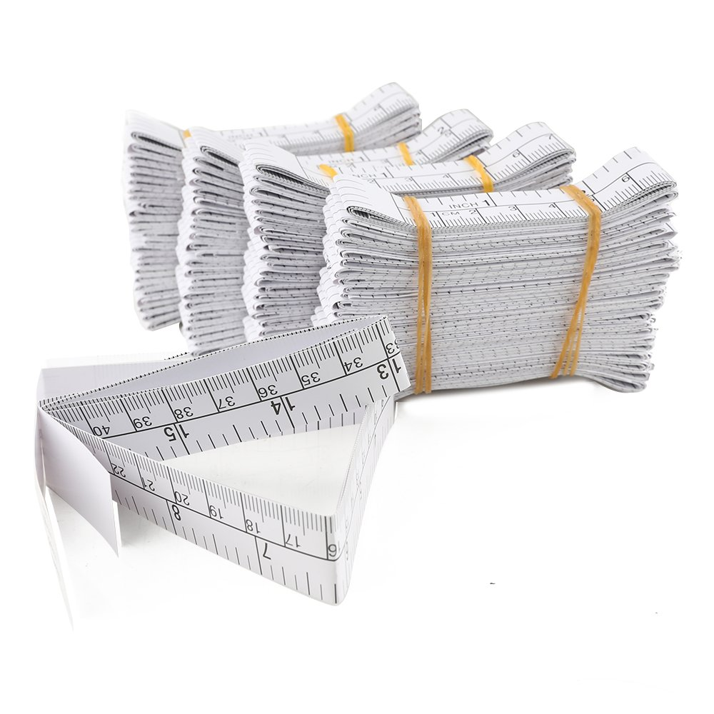 Wintape 1meter metro a nastro di carta, 101,6cm, ferita di misura righelli, Educare usato misura neonati testa, usa e getta, confezione da 100