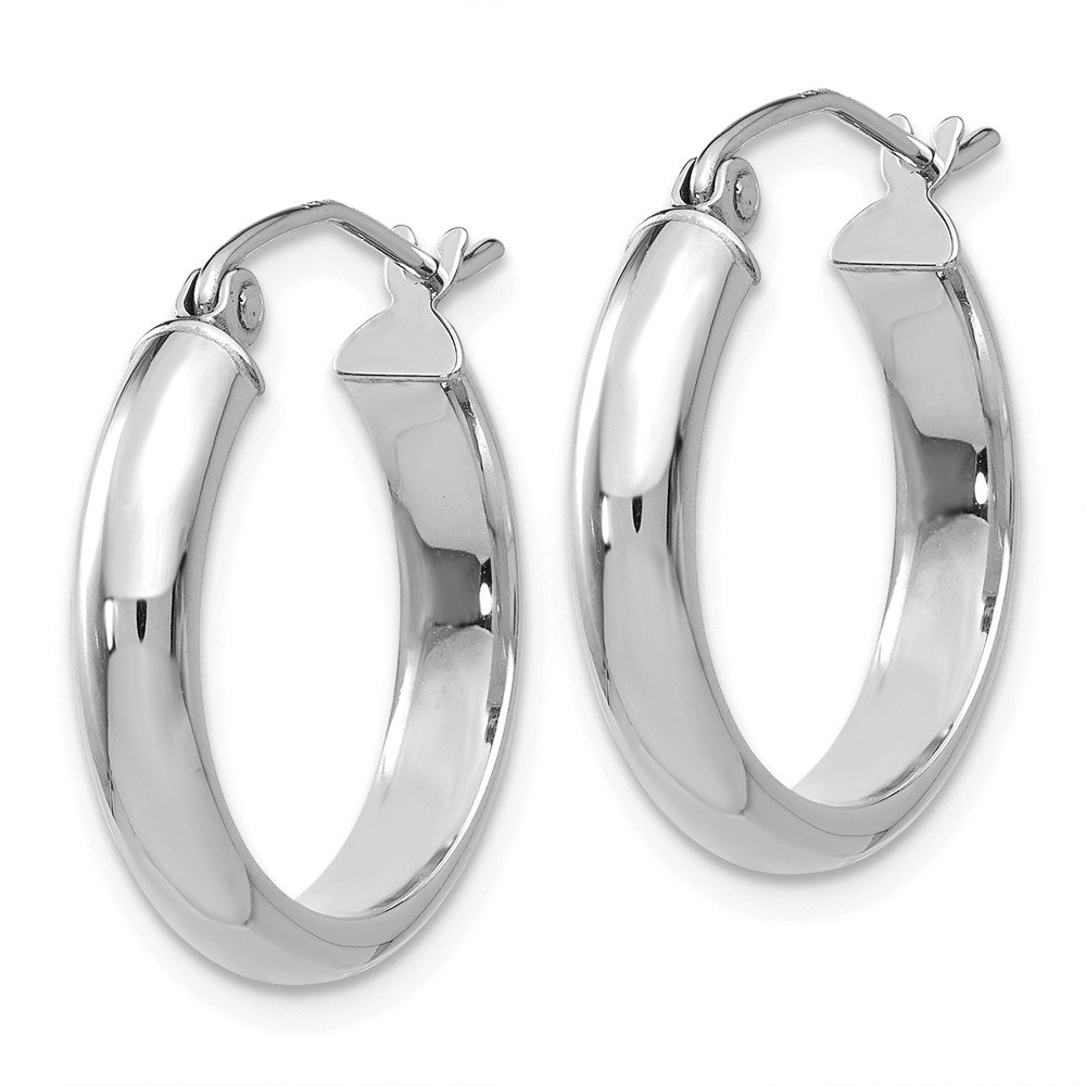 Mia Diamonds 14k White Gold Hoop Earrings