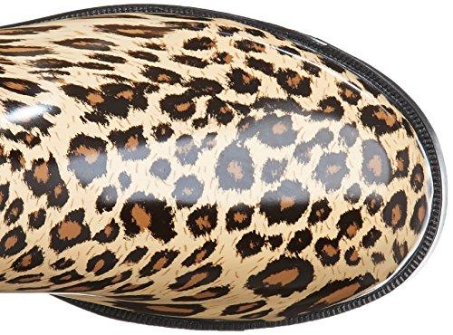 SPYLOVEBUY MEGAN Mujer Altas Planos Botas de Agua Leopardo