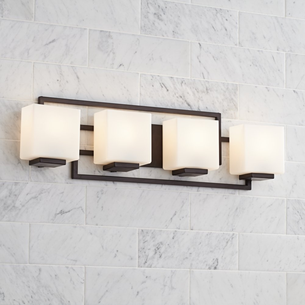Lighting on the square bronze 29 wide bath wall light wall lighting on the square bronze 29 wide bath wall light wall sconces amazon aloadofball Images