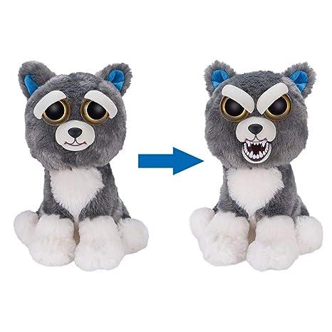 Feisty Pets Regalo de cumpleaños de Navidad para niños Muñeco de peluche Animal Cambio de cara