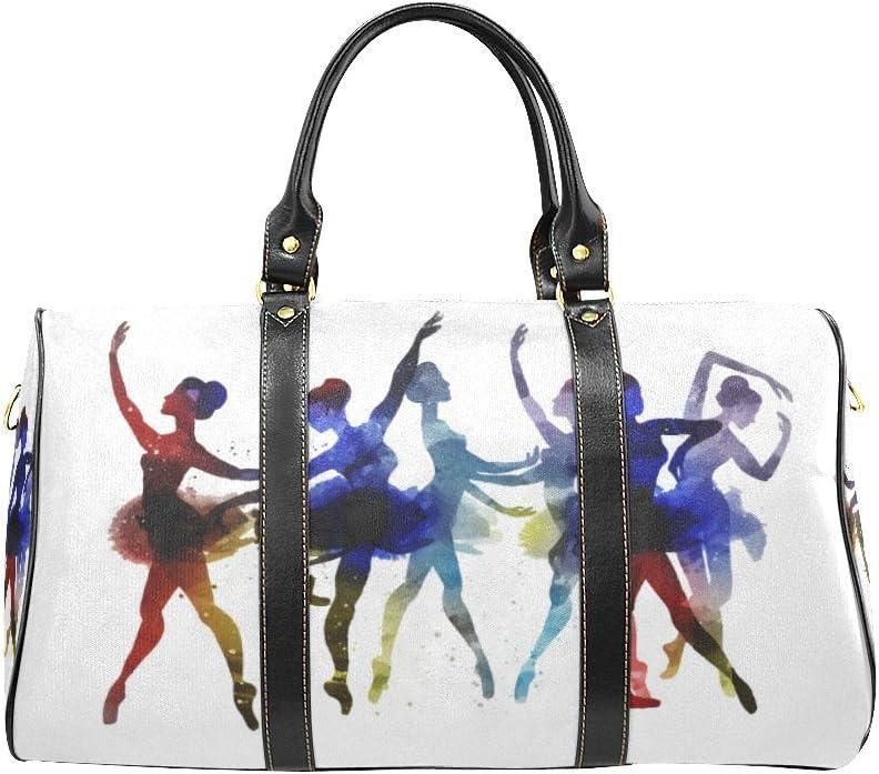 VunKo Ballet Dancer Small Travel Duffel Bag Waterproof Weekend Bag with Strap for Girls