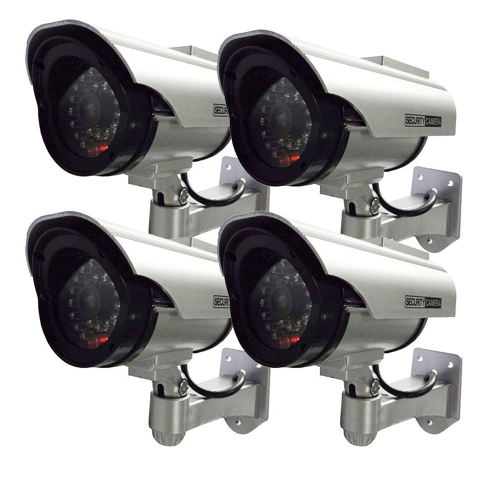 HENXLCO Dummy Solar Security Camera 4 Pack