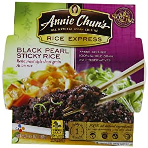 Annie Chun's Rice Express Black Pearl Sticky  Rice, 6.3-Ounce Units (Pack of 6)