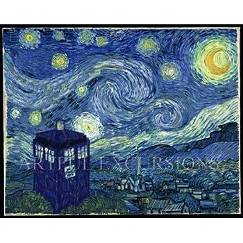 Amazon.com: Doctor Who Starry Night Poster Large, Van Gogh Tardis ...