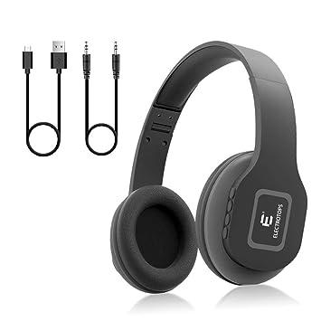 Auriculares Bluetooth,Auriculares Inalámbricos con Micrófono Estéreo de Alta Fidelidad Plegable para el Oído,Admite Llamadas Manos Libres y Modo Cableado ...