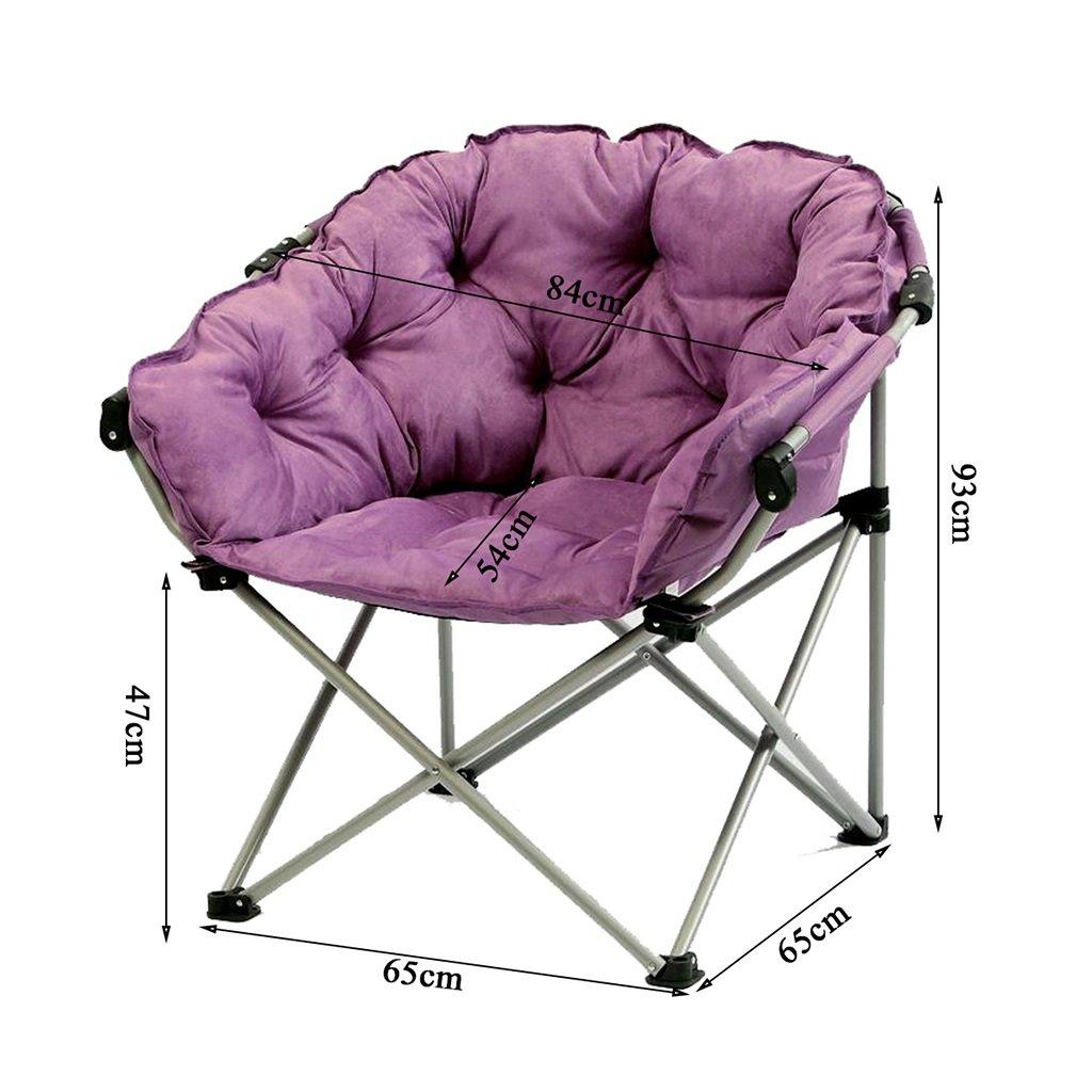 Purple Moon Chair Creative Lazy Suede Fabric Tumbonas ...