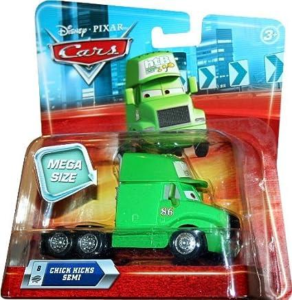 Pixar CARS 1:55 Scale Vehicle/ Mattel Toys N8479 MEGA SIZE CHICKS HICKS SEMI #8 Disney