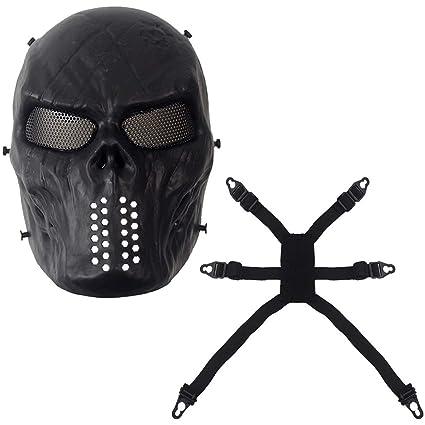 Elviray Máscaras Faciales Fantasma Táctico Militar al Aire ...