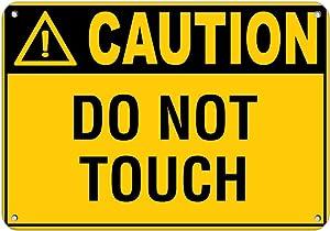 Caution Do Not Touch Hazard Sign Hazard Labels Vinyl Sticker Decal 8