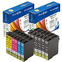 PrintOxe™ Compatible 12 Ink Cartridges for E T200XL ; 6 Black T2001XL , 2 Cyan T2002XL , 2 Magenta T2003XL , & 2 Yellow T2004XL . 200XL for use in Expression Home XP-100 / XP-200 / XP-300 / XP-310 / XP-400 / XP-410 / XP-510 and WorkForce WF-2510 / WF-2520 / WF-2530 / WF-2540 . Exclusively sold by PanContinent
