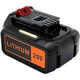 Upgraded ERJER LBXR20 6.0Ah Replace for Black and Decker 20V Lithium Battery Max LBXR20 LBXR20-OPE LB20 LBX20 LBX4020…