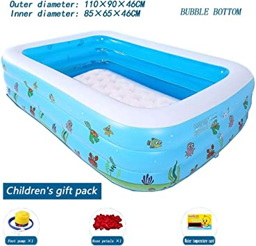 Amazon.com: Bañera portátil plegable inflable para niños ...
