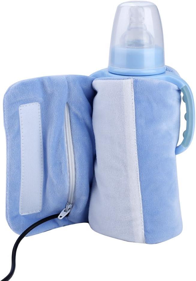Calentador botellas leche usb, puede mantener caliente la leche o el agua del bebé bolsa multifuncional para enfriador bebidas taza té de café (azul)