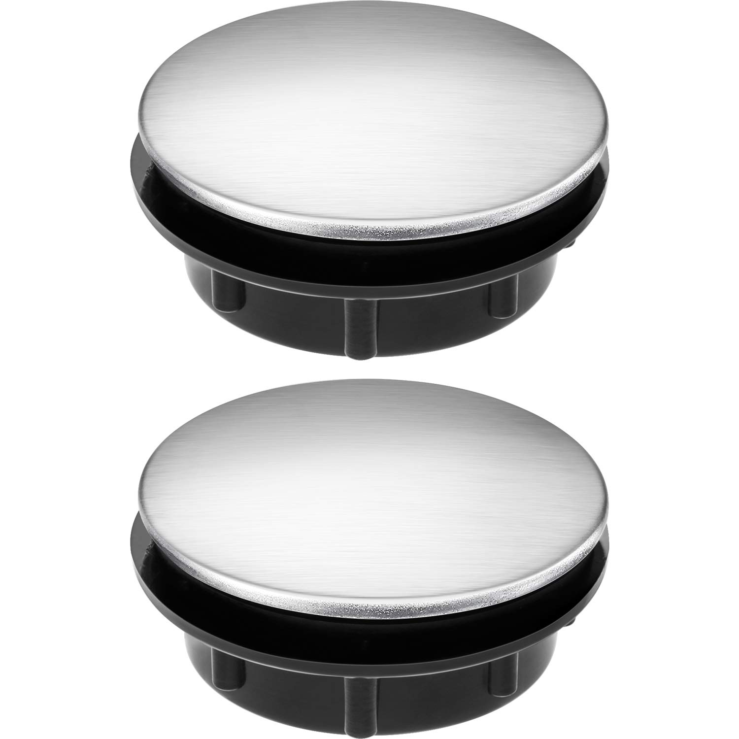 Tatuo Sink Tap Hole Cover Kitchen Faucet Hole Cover Stainless Steel, 2 Packs (1.1 to 1.7 Inch in Diameter)