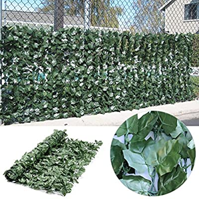 Synturfmats Artificial Ivy Hedge Fencing Indoor/Outdoor Faux Leaf Privacy Fence Screen Decoration Panels, 2 Size Available