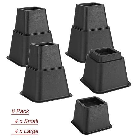Pleasant Gototop 8Pcs Bed Risers Chair Lift Blocks Stackable Furniture Riser Elephant Feet 4X 3Inch 4X 5Inch Machost Co Dining Chair Design Ideas Machostcouk