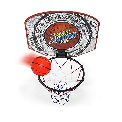 Twitfish® - Mini Canasta Interior de Baloncesto - Novedad Divertido Juego de Juguetes para el hogar de Escritorio de Office, Mini Board, Ball & Pump ...