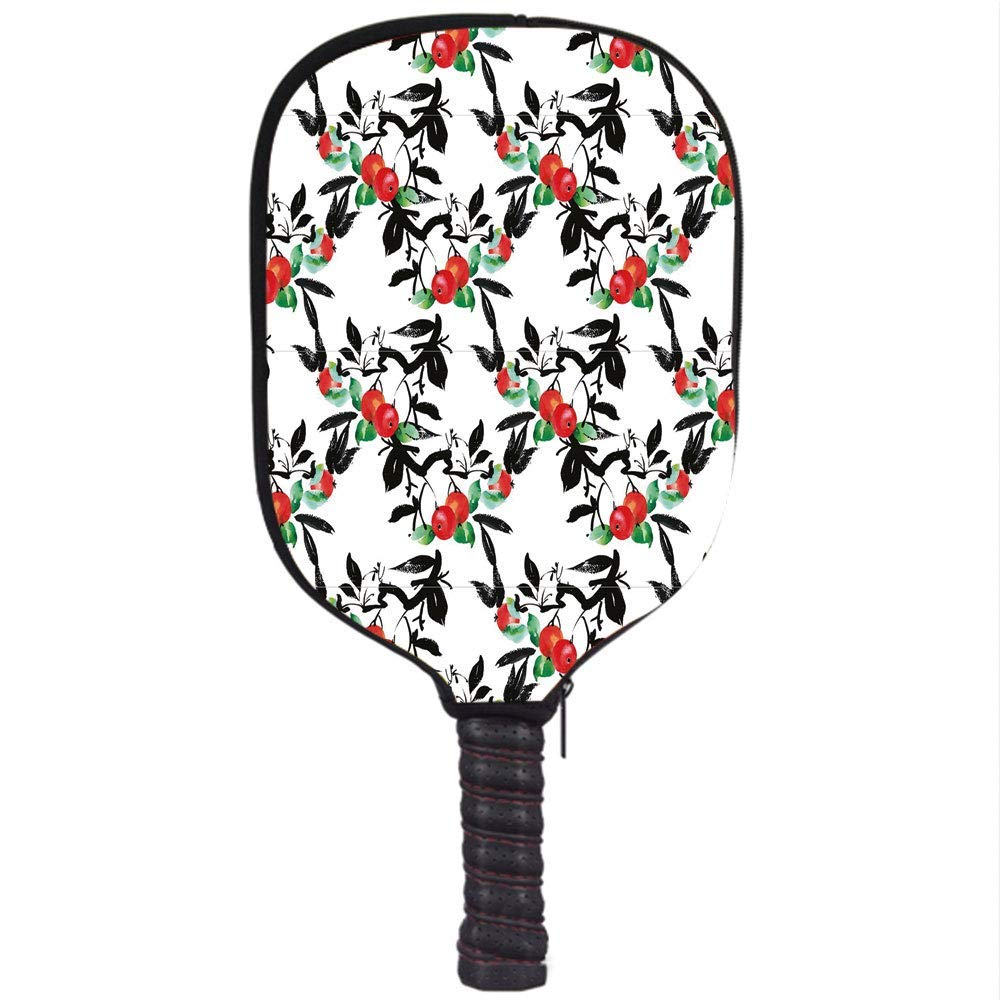 Amazon.com : YCHY High Grade Neoprene Pickleball Paddle Racket Cover Case, Rowan, Vivid Mountain Berries with Watercolor Doodle Shrubs Abstract Modern ...