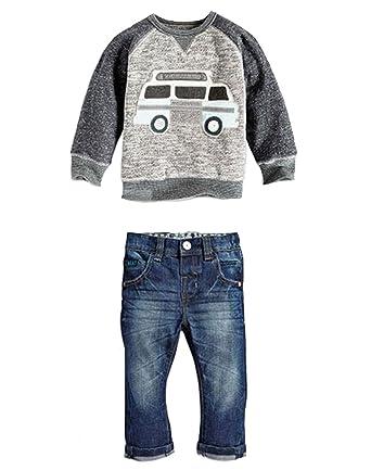 912dd2f62826 Amazon.com  2Pcs Baby Infant Toddler Boys Long Sleeve Shirt+Pants ...