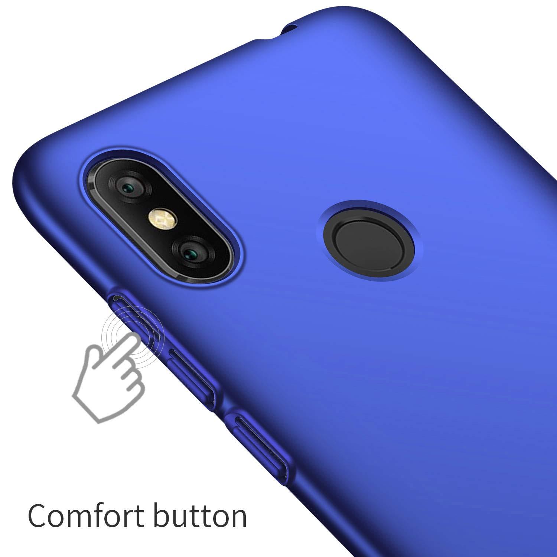 UCMDA Funda Xiaomi Redmi Note 6 Pro, Carcasa Xiaomi Redmi Note 6 Pro con Protector de Pantalla, Fundas [Anti-Arañazo] Duro para Xiaomi Redmi Note 6 Pro ...