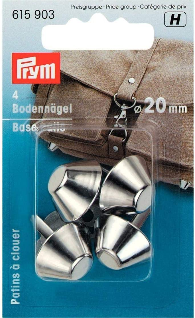 Prym bag feet base nails antique silver colour 15mm  4 pieces craft sewing