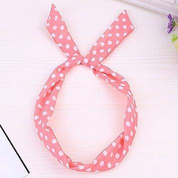 Women Girls Cute Bow Rabbit Bunny Ear Ribbon Hair Band Wire Wrap Headband W