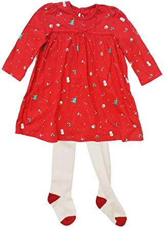 Get Wivvit Baby Girls Christmas Pudding Tree Novelty Xmas Dress /& Tights Outfit Sizes from Tiny Prem to 18 Months