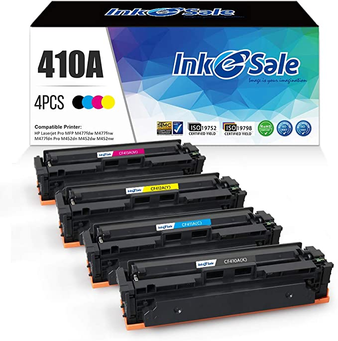 Black, 1 Pack GREENCYCLE High Yield Compatible for HP CF410X 410X Toner Cartridge Replacement for Color Laserjet Pro MFP M477fdn MFP M477fdw MFP M477fnw MFP M377dw M452dn M452nw Series Printer