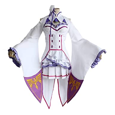 Home Re:zero Starting Life In Another World Emilia Cosplay Clothes Full Set Costume
