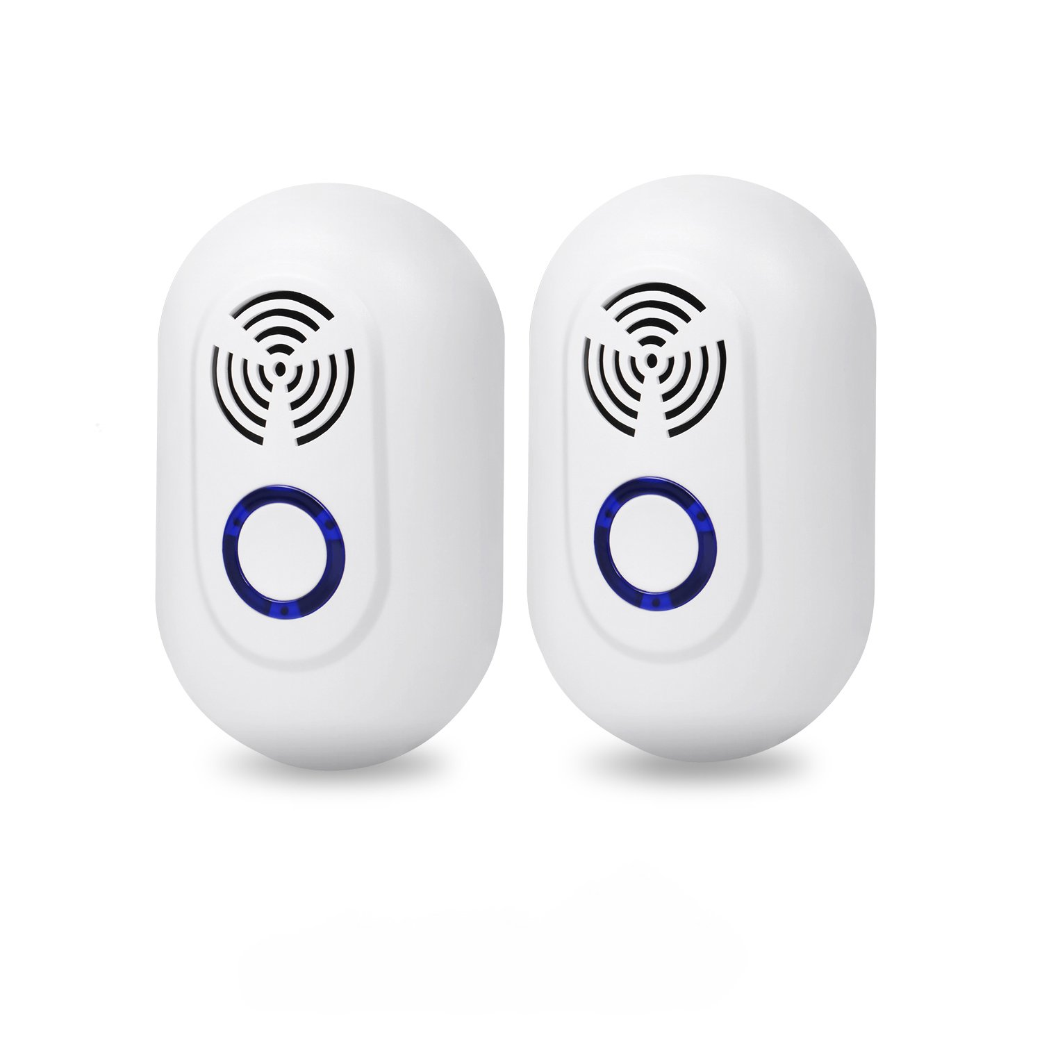 Ultrasonic Pest Repellent, Pest Control Ultrasonic Repeller Set of 2, Indoor Plug in Repellent for Mosquitoes, Mice, Rat, Bug, Roach, Spider, Rodent and More Insects, Safe for Human and Pets