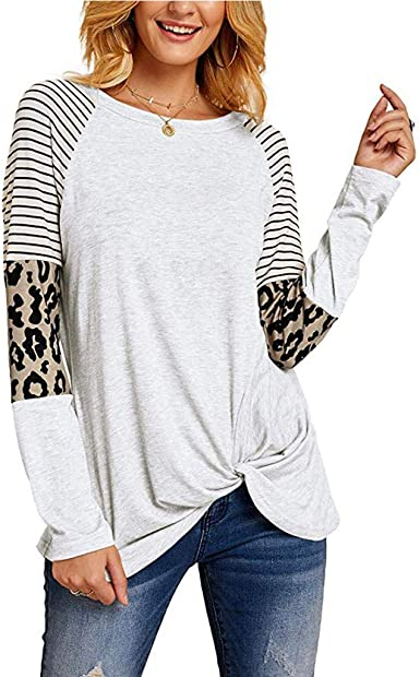 Mochan - Camiseta de Manga Larga para Mujer, diseño de Rayas ...