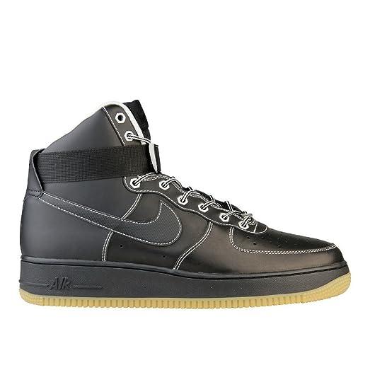 Nike Air Force 1 High - MENS - Shoes - Black White Metallic Silver - 315121 028