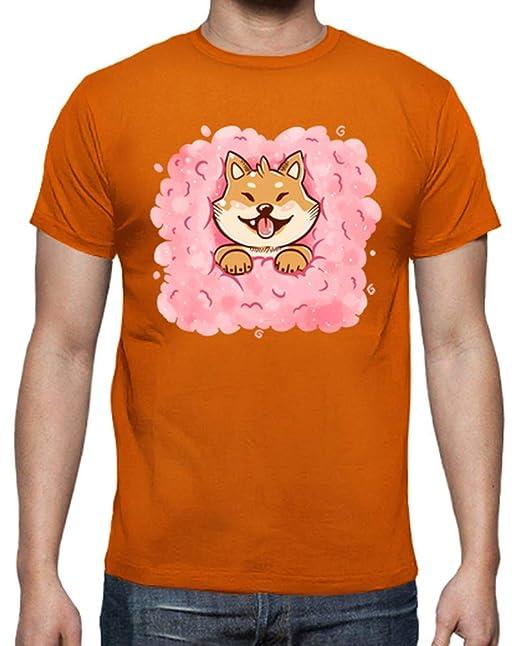 latostadora - Camiseta Algodn Candy Shiba Inu para Hombre Naranja S: TechraNova: Amazon.es: Ropa y accesorios