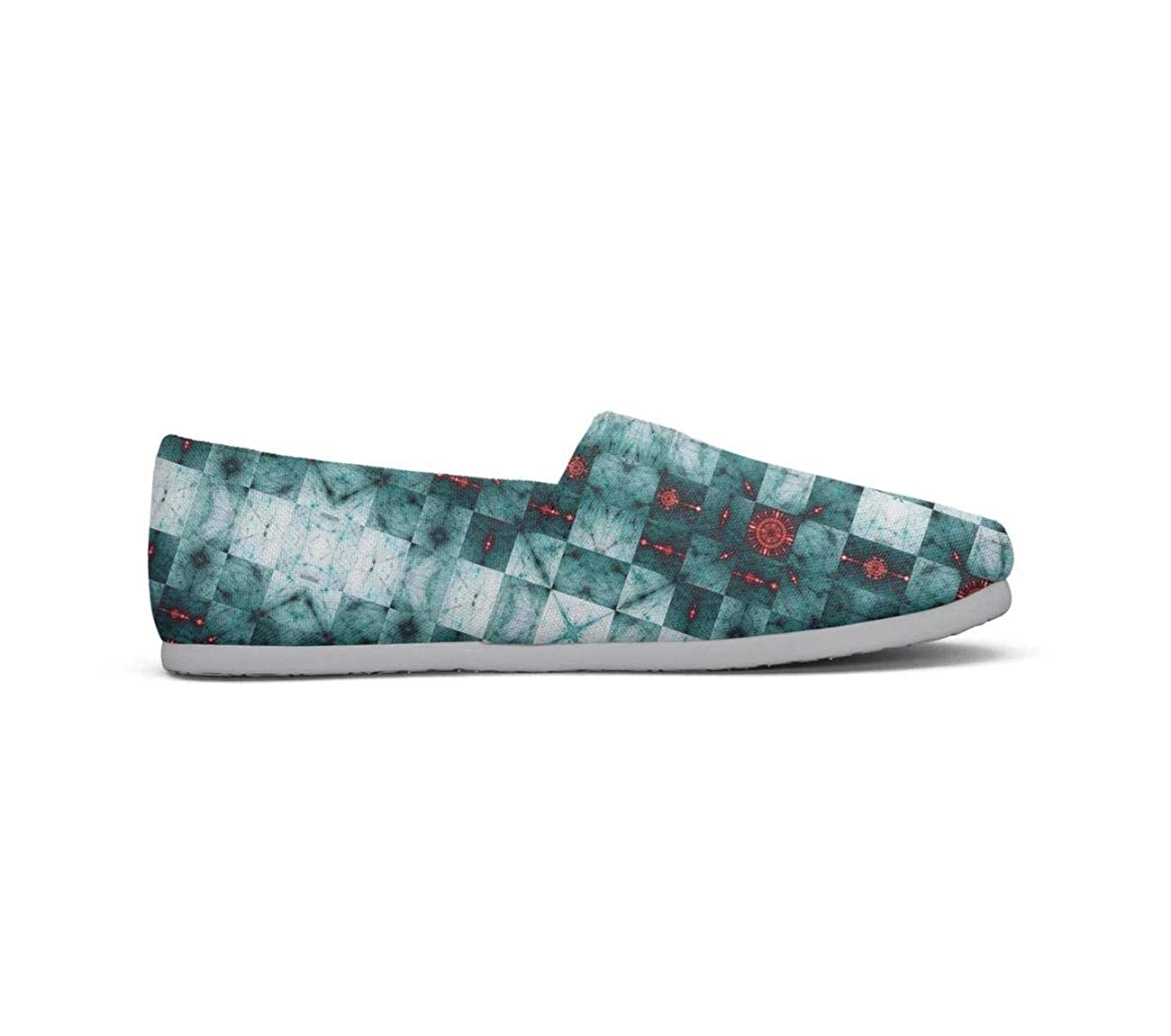 Urban Pattern from Stripes and dots Checkerboard Womens Lightweight Casual Canvas Custom Sneakers Training Shoes