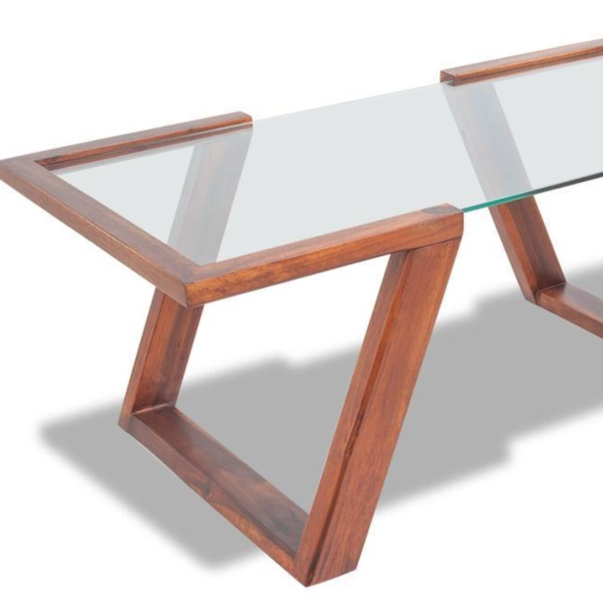 Amazon com tempered glass top solid acacia brown wood coffee side end table wooden base kitchen dining