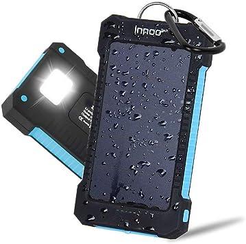 Innoo Tech Cargador Solar 10000mAh, Power Bank portátil con ...