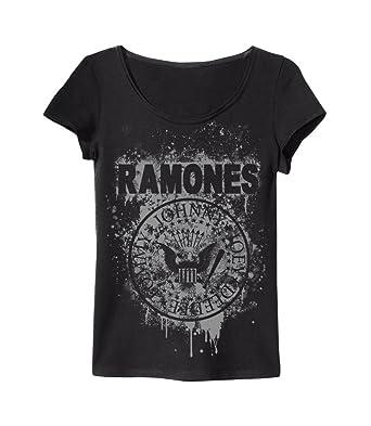 Graffiti Gris T Large X Ramones Shirt Pour Amplifiés Femme drhQxtsCB