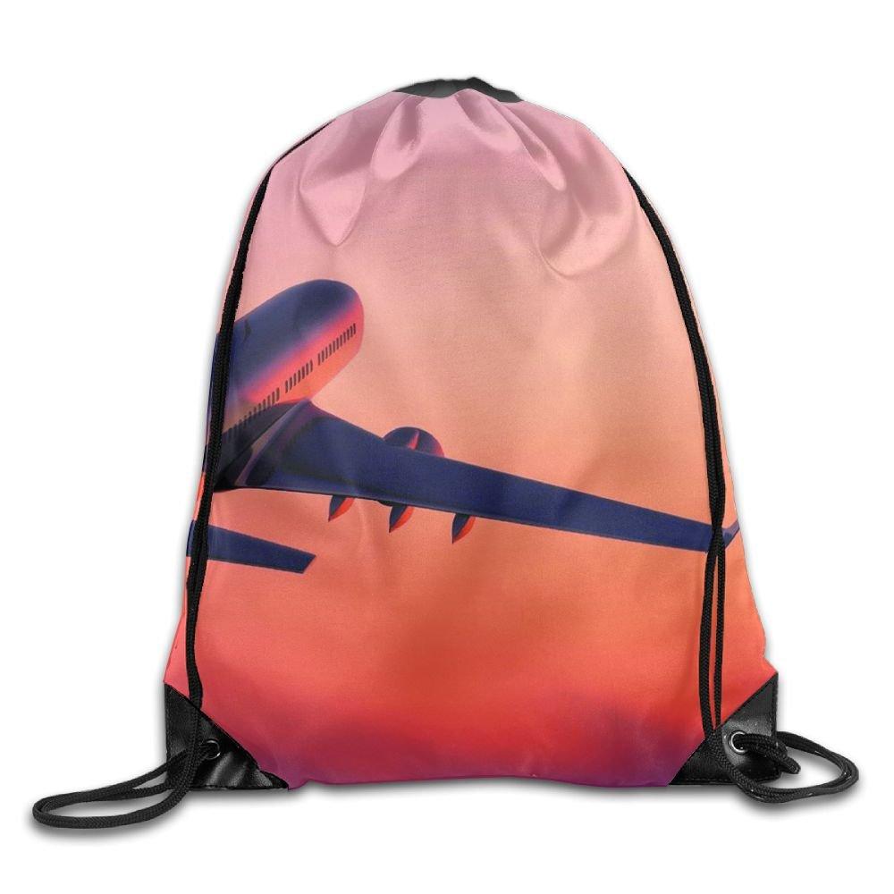 Flying airplanesユニセックスジム袋バッグ巾着バックパックスポーツバッグのメンズ&レディース   B07BBN5XGR