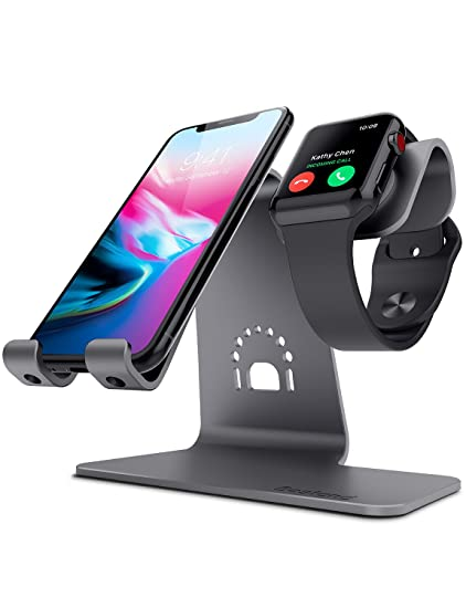 new style ff4db 48f0a Bestand 2 in 1 Apple iwatch Charging Stand Holder&Phone Desktop Tablet Dock  for Apple Watch/iPhone X/8Plus/8/7 Plus/iPad (Space Grey)