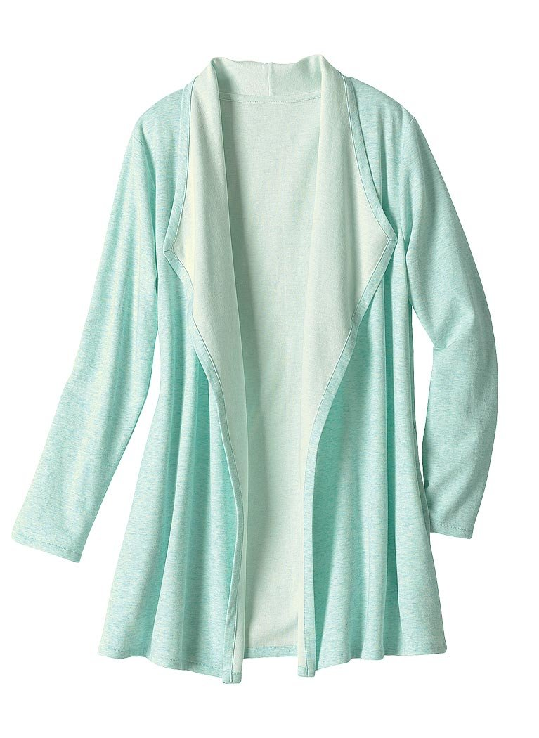 AmeriMark Women's Knit Lounge Jacket LG (14-16)/Mint by AmeriMark