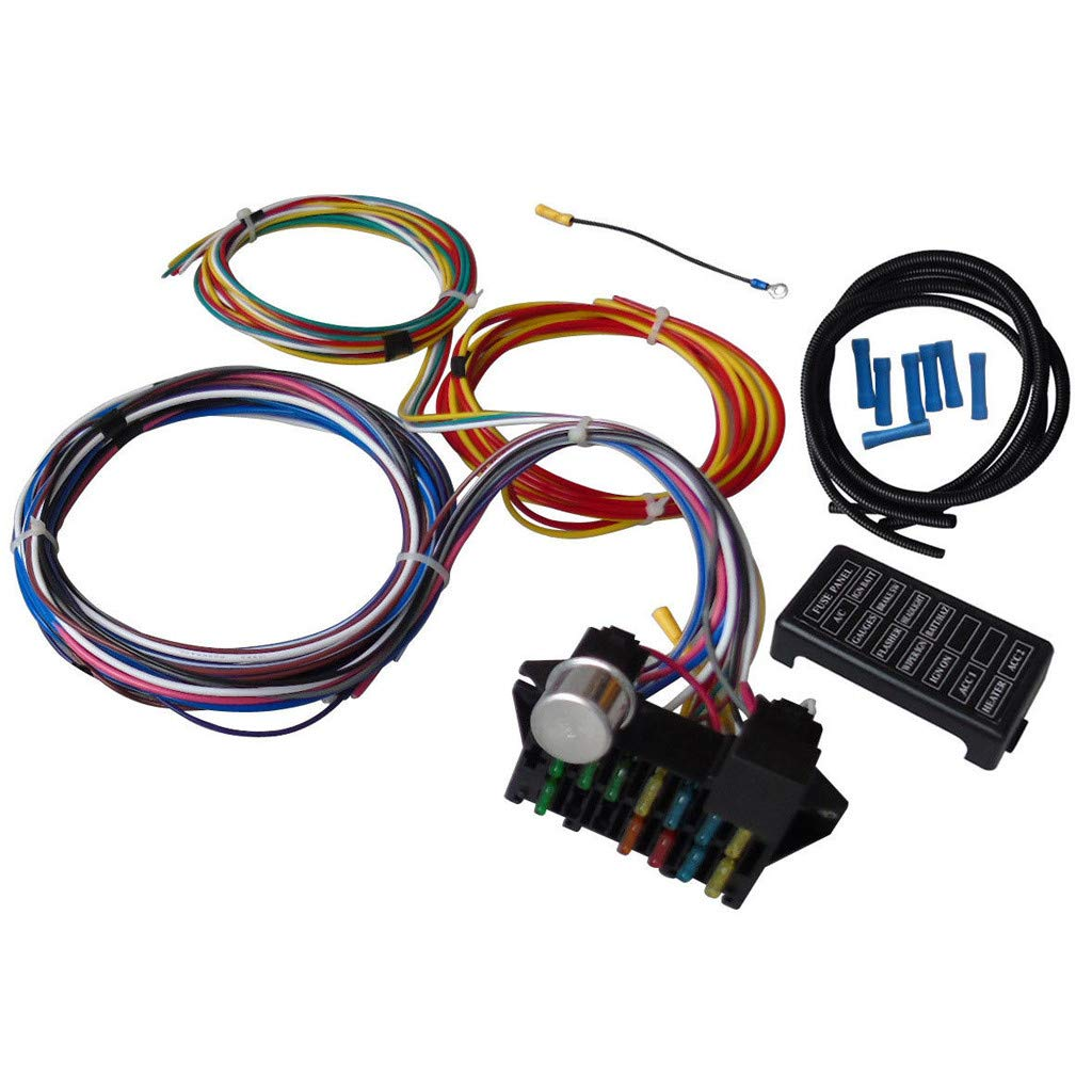 Amazon.com: Bouanq 12 Circuit Wiring Wire Harness Kit, GM ... on