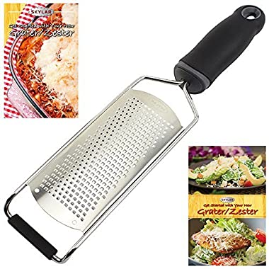 ProChef Fine Cheese Grater, Ginger Grater & Lemon Zester, Micro Blade Cover & Recipe eBook by Skylar