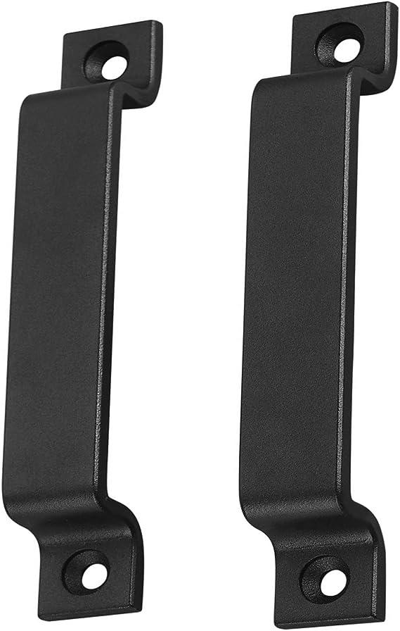 Manija para puerta de granero, de acero sólido, color negro, puerta corredera, acero negro o acero inoxidable, incluye tornillos: Amazon.es: Bricolaje y herramientas