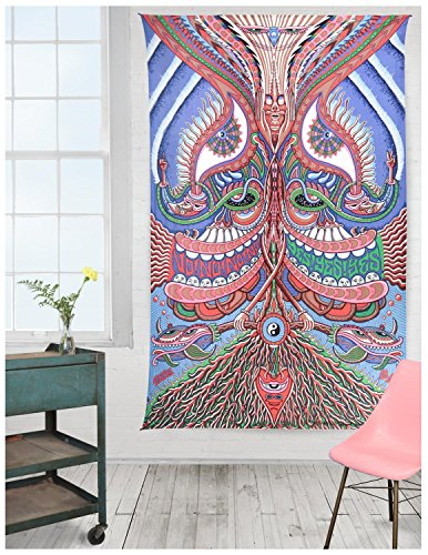 Sunshine Joy 3D Yes Yes Yes No No No Tapestry - Artwork By Chris Dyer Hanging Wall Art - Beach Wrap - Amazing 3-D Effects (30X45 inches)