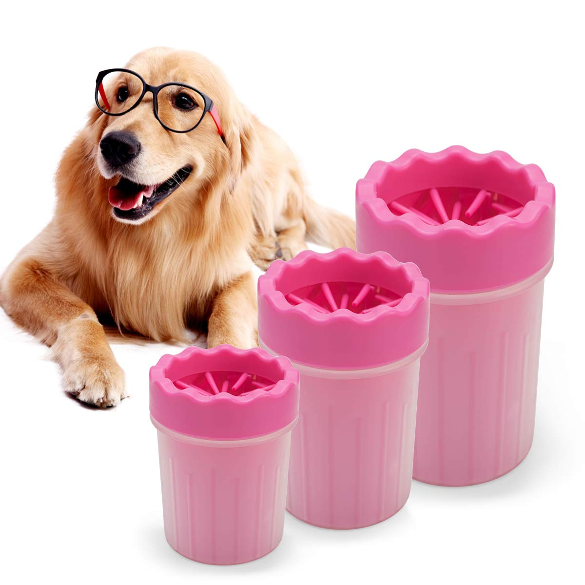 ZyMotorized Dog Foot Cleaner, Portable Pet Foot Washing Cup Soft Silicone Dog Paw Cleaner Pet Cleaning Brush Cup Tool for Dogs and Cats