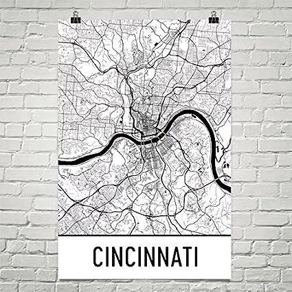Amazon.com: Cincinnati Poster, Cincinnati Art Print, Cincinnati Wall ...