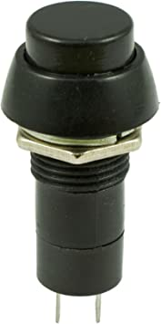 5 x Black On-Off Latching Round Push Button Switch 12mm SPST