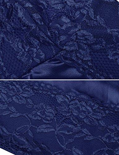 Avidlove Navy Raso Cinghia Camicia Donna Blu di da Spaghetti in Notte Pizzo q1OxRq